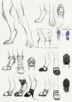 I often draw my anthros with a mix between digitigrade legs and human legs, but I never really focused that much on the specifics, since every character. Shoes for people on the digitigrade spectrum Feet Drawing, Drawing Legs, Human Drawing, Furry Drawing, Drawing Practice, Animal Drawings, Art Drawings, Fanarts Anime, Anthro Furry