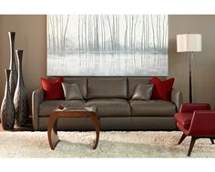 Great Room Design - Interesting Color Combination  -  American Leather : Hamilton Sectional
