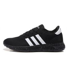 Buy Adidas Neo Lite Racer Womens Running Shoes On Black And White ...