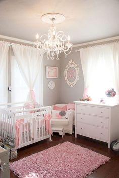 Kinderzimmer Ideen Madchen Rosa Graue Wand Gestaltung