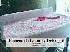 Homemade Laundry Detergent Recipe- HE safe   Divas Can Cook