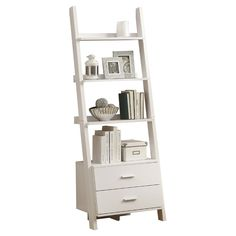 $149.95-Forti Etagere - Sweetheart Shades on Joss & Main / WHITE / 4-SHELES / 2-DRAWERS (((MEAS.25.75W X 16.75D X 69H)))