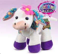 Webkinz Rockerz Cow - Peace Love