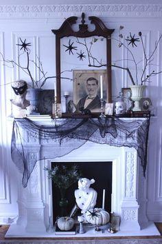 idée de déco de cheminée pour Halloween