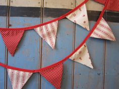 Christmas Bunting. Colours  Cream and Red. by buntingboutique, £16.50