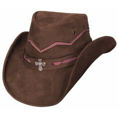 Bullhide Serenity Leather Cowgirl Hat ❤ liked on Polyvore