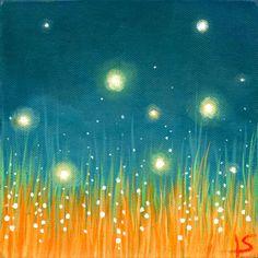 Fireflies Art Print - The Firefly Dance 5x7. $15.00, via Etsy.