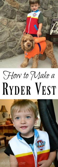How to sew a Ryder vest for a Halloween costume or to play dress up.