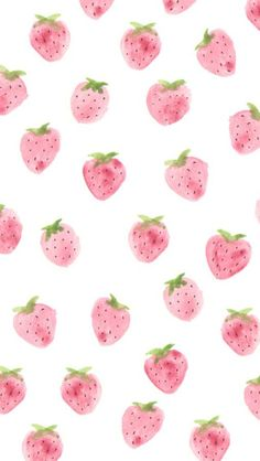Strawberries pattern. Tap to see more iPhone Wallpapers for Summer To Brighten…