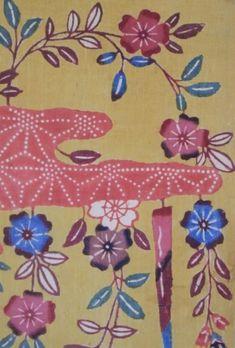 YELLOW GROUND SILK BINGATA ・ 絹紅型