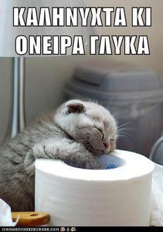 Καληνύχτα και όνειρα γλυκά! - Noapte bună şi vise plăcute! Kalinihta ke onira glika!