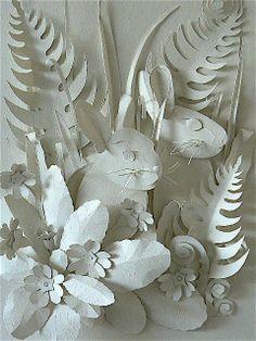 Helen Musselwhite paper art bunnies