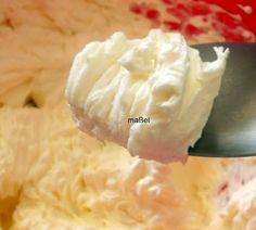 Frosting de mascarpone - Crema de mascarpone ~ Pasteles de colores                                                                                                                                                                                 Más