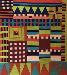 House Quilt Patterns, House Quilts, Quilting Projects, Quilting Designs, Art Projects, Sampler Quilts, Scrappy Quilts, Geometric Quilt, Geometry Art