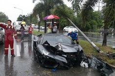 Lamborghini Aventador Wrecked in Thailand! Not what you want to see!