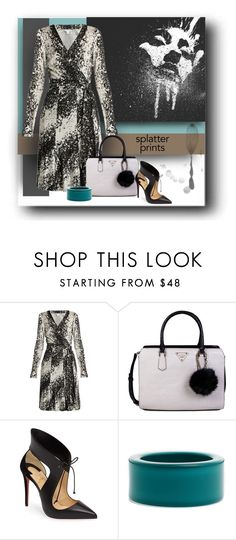 """Diane's Version"" by michelletheaflack ❤ liked on Polyvore featuring Diane Von Furstenberg, GUESS, Christian Louboutin, ZENZii, paintsplatter, polyvorecontests, styleinsider and paintiton"