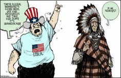 This picture represents America saying that immigrants take up and use up all the resources, but that is not true. As a matter of fact they help out a lot and contribute to create more resources instead of take them away. They also help create stability and help things come together.