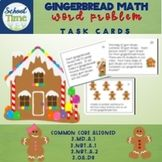 Gingerbread Math Word Problems ColorCCSS is a set of 24 task Math Vocabulary Words, Math Words, Holiday Activities, Math Activities, Elementary Teacher, Elementary Schools, Teaching Ideas, Teaching Materials, Teaching Math