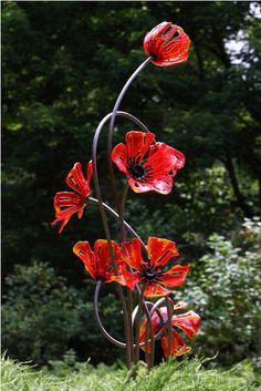 Craig Mitchell Smith - Giant glass poppies