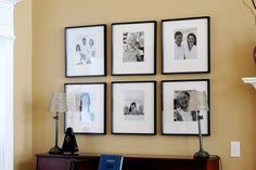 Photo and frame arrangement ideas