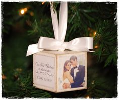 Our First Christmas Ornament by nikkitannerdesigns on Etsy