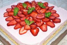 Epres túrótorta Strawberry, Fruit, Food, Strawberry Fruit, Hoods, Meals, Strawberries