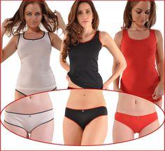 daf2a53c04e Kabbaz-Kelly Cotton   Silk Luxury Tank Top   Bikini Gift Set