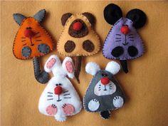 Мягкие игрушки из фетра: