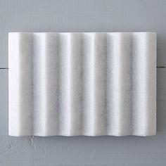 Ridged Marble Soap Tray