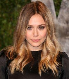 Perfect blond hair / highlights -- Elizabeth Olsen 2012 Vanity Fair Oscar Party by Brian To