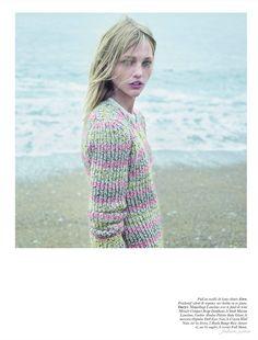 """Never Mind"" Vogue Paris November 11 Mario Sorrenti, featuring models Natasha Poly and Sasha Pivovarova"