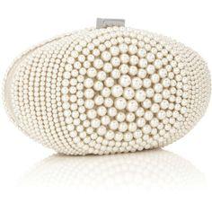 Coast Paloma Pearl Clutch ($90) ❤ liked on Polyvore featuring bags, handbags, clutches, purses, accessories, bolsas, white handbags, kiss clasp purse, kiss-lock handbags and white clutches