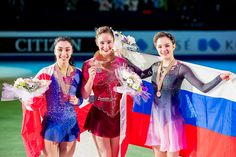 https://flic.kr/p/T1eNUh | Ladies Medal Ceremony | Copyright Danielle Earl/Golden Skate