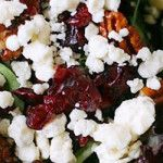 Chopped Salad with Cranberries, Pecans, Bacon and Goat Cheese