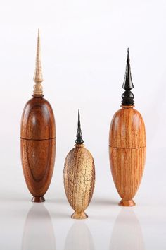 Artistic Wood Turnings   three wood turnings jpg closed form turnings wood…