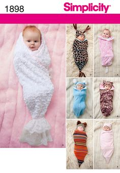 Simplicity Patterns for Babies | Baby Patterns - Simplicity Babies' Swaddling Sacks Pattern