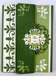 Fancy Nesty Tutorial - half of the design is cut but the entire design is embossed