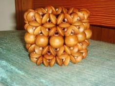 All Natural Wooden Beaded Bracelet! Lightweight!
