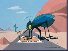Wile E. Coyote and Giant Fly