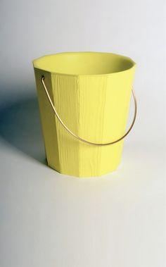 Bucket by Klára Šumová – linking a modern platic bucket to the traditional wooden pail
