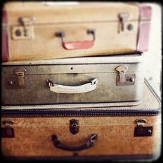 "Vintage Travel Photo - ""Take the Long Way Home"" - Antique Suitcases Sepia Film Photograph  - Vintage Luggage on Etsy, $31.73 CAD"