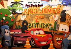 Disney Cars Stage Styro Backdrop Decoration
