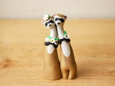 Hey, I found this really awesome Etsy listing at https://www.etsy.com/pt/listing/107212978/black-footed-ferret-wedding-cake-topper
