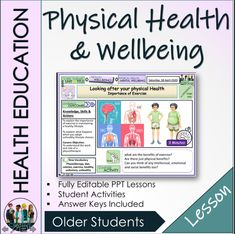 Physical Health and Wellbeing Lesson - Amped Up Learning Powerpoint Lesson, After School Club, Learning Objectives, Mindfulness Activities, Teacher Notes, Health And Wellbeing, Curriculum, Physics, Knowledge
