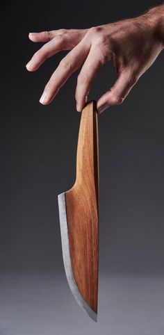 Check this out on leManoosh.com: #Ergonomics #Knife #Material Break #Metal #Silver #steel #Unibody #Wood