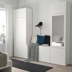 PLATSA wardrobe with 9 doors – white, Fonnes Ridabu – IKEA Germany – Bedroom Inspirations Storage, Ikea Bedroom Storage, Storage Bench Bedroom, Bedroom Inspirations, Bedroom Storage, Ikea Bedroom, Furniture, Ikea, Bedroom Furniture