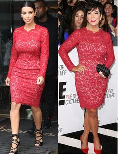 Style stealer! Kris Kris wore the same $3,690 Valentino dress in 2013 that Kim sported in London in 2012