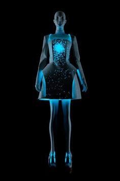 "Vega Zaishi Wang, dress made from electroluminescent fabric (EL), ""Alpha Lyrae"" collection, 2012"