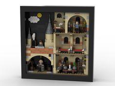 LEGO Frame - Hogwarts Whomping Wilow from BrickLink Studio Lego Frame, Lego Village, Lego Decorations, Lego Hogwarts, Lego Display, Lego Photo, Lego Modular, Ikea Frames, Lego Worlds