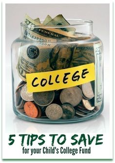 5 Tips to Save for your Child's College Fund ~ TheCentsAbleShoppin.com